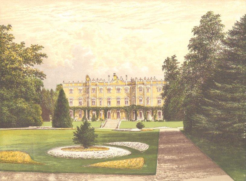 Associate Product HUGHENDEN MANOR, Wycombe, Buckinghamshire (Earl of Beaconsfield) 1893 print