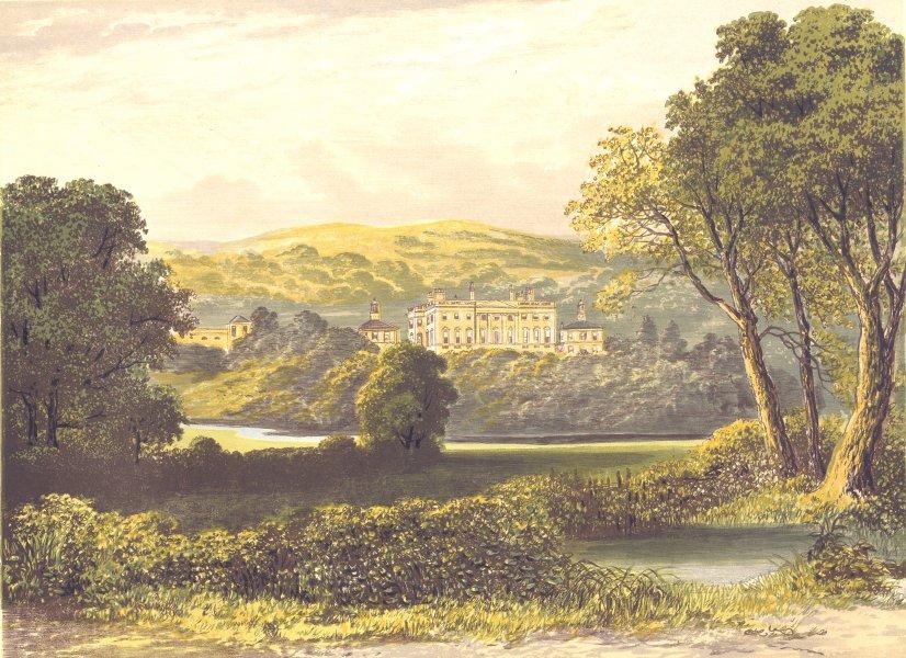 Associate Product DENTON PARK, Otley, Yorkshire (Wyvill) 1893 old antique vintage print picture