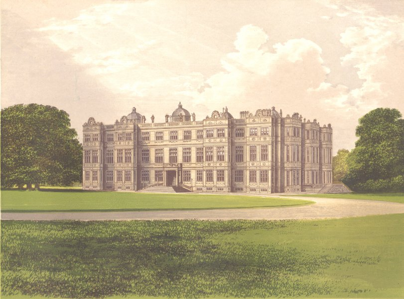 Associate Product LONGLEAT, Warminster, Wiltshire (Marquis of Bath) 1893 old antique print