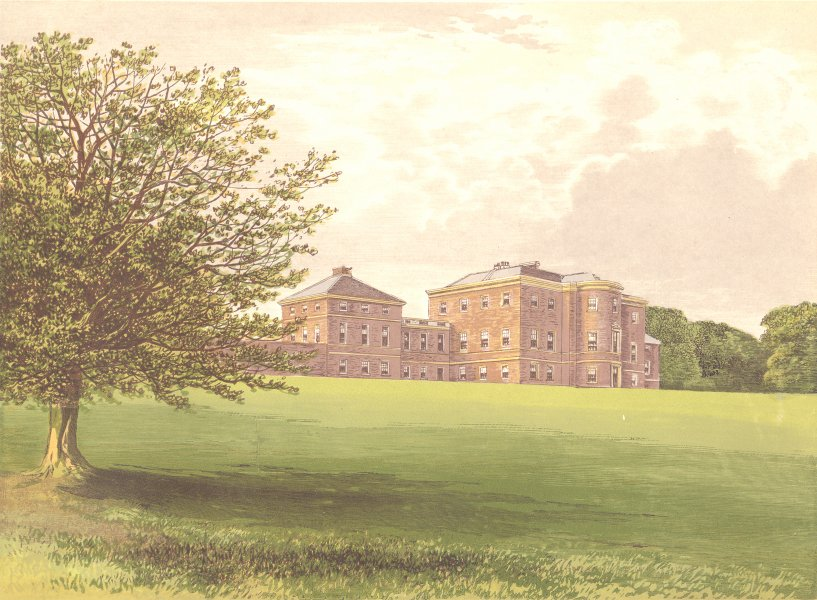 Associate Product MERSHAM-LE-HATCH, Ashford, Kent (Knatchbull, Baronet) 1893 old antique print