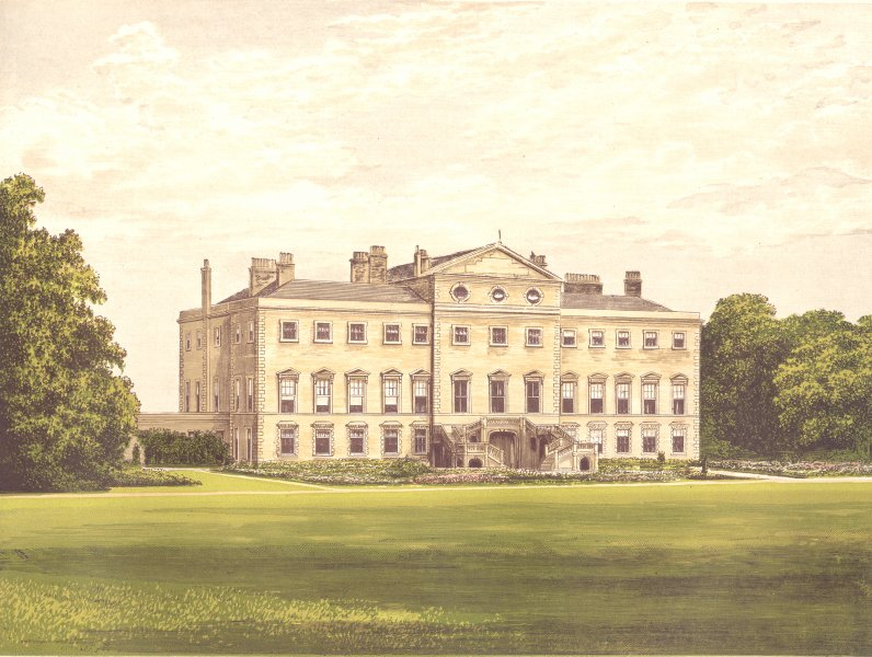 Associate Product LATHOM HOUSE, Ormskirk, Lancashire (Earl Lathom) 1893 old antique print