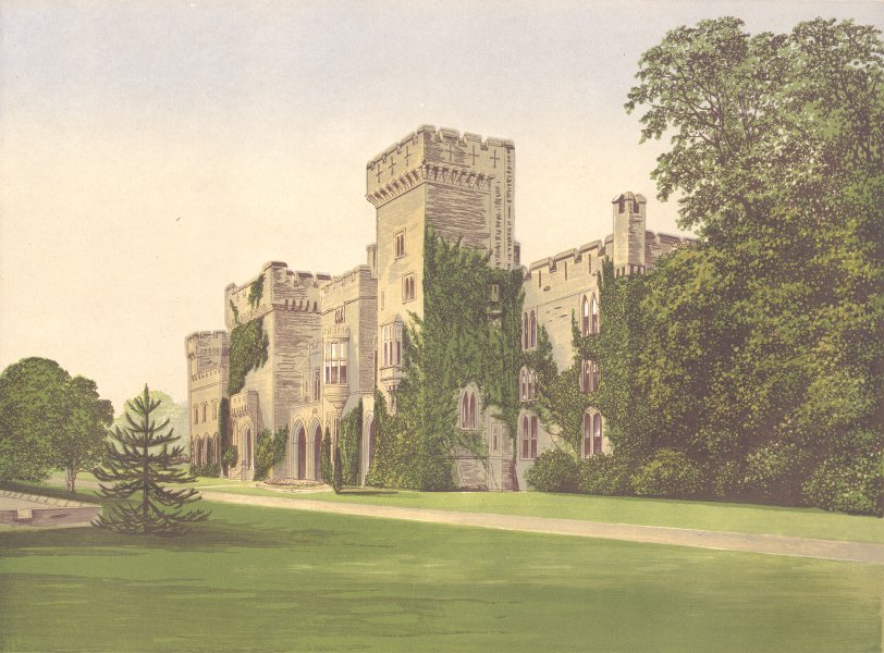 Associate Product DOWNTON CASTLE, Aston, Herefordshire.Rouse-Boughton-Knight 1893 old print