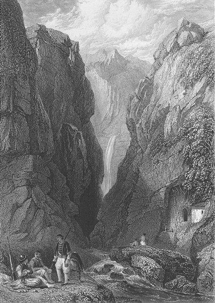 Associate Product GREECE. Delphi ; Finden 1833 old antique vintage print picture