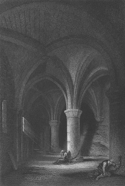 Associate Product SWITZERLAND. Dungeon of Chillon; Finden 1833 old antique vintage print picture