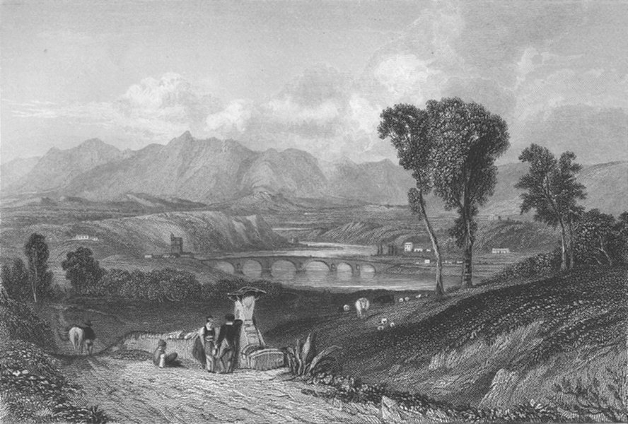 Associate Product ITALY. The Tiber ; Finden 1833 old antique vintage print picture