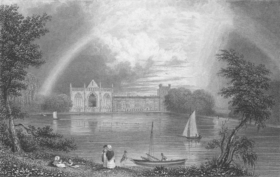Associate Product NOTTS. Newstead Abbey ; Finden 1834 old antique vintage print picture