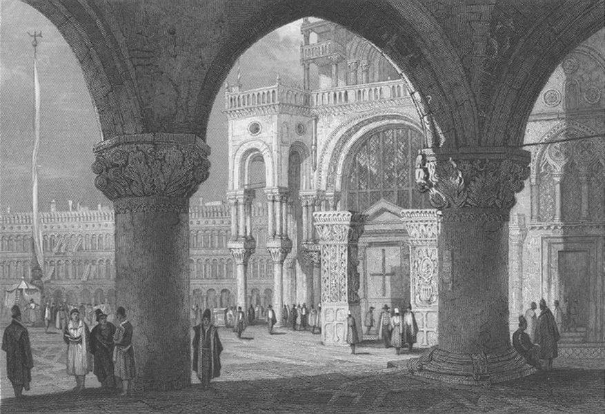Associate Product ITALY. Saint Mark's, Venice ; Finden 1834 old antique vintage print picture