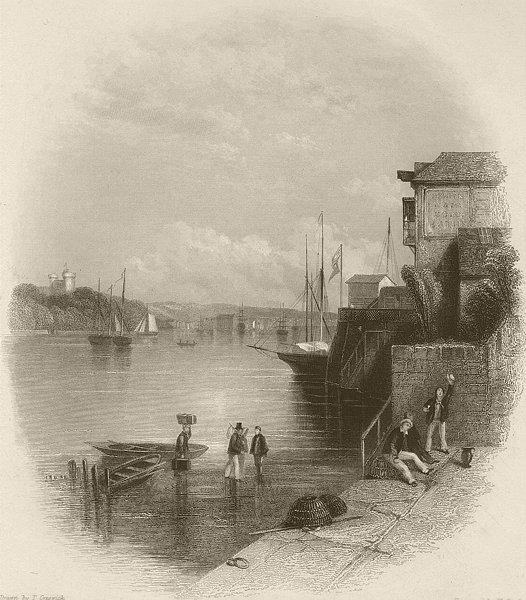 Associate Product Cowes, Isle of Wight. FINDEN 1842 old antique vintage print picture