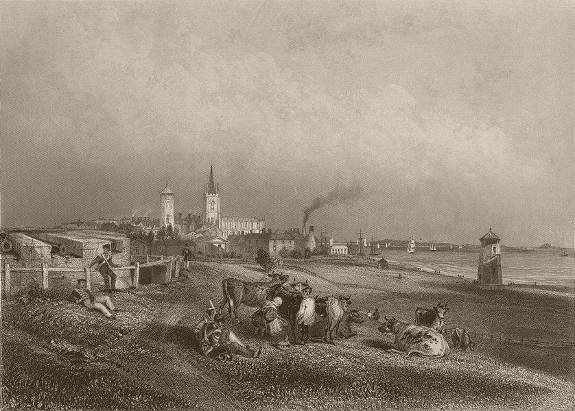 Associate Product Harwich, Essex. FINDEN 1842 old antique vintage print picture