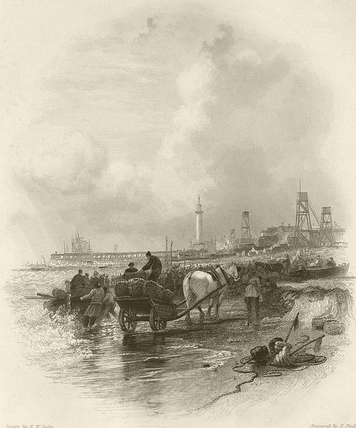 Associate Product Great Yarmouth, Norfolk. FINDEN 1842 old antique vintage print picture