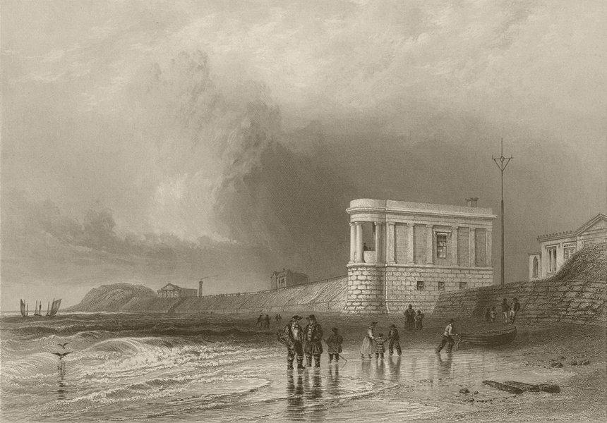 Associate Product Southport Sands, Lancashire. BARTLETT 1842 old antique vintage print picture