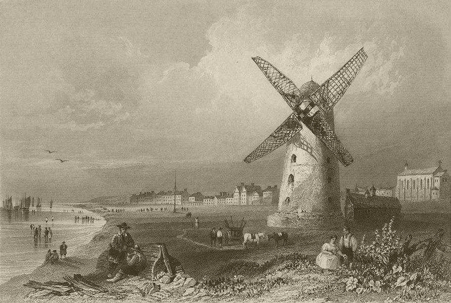 Associate Product Lytham St Annes, Lancashire. BARTLETT 1842 old antique vintage print picture