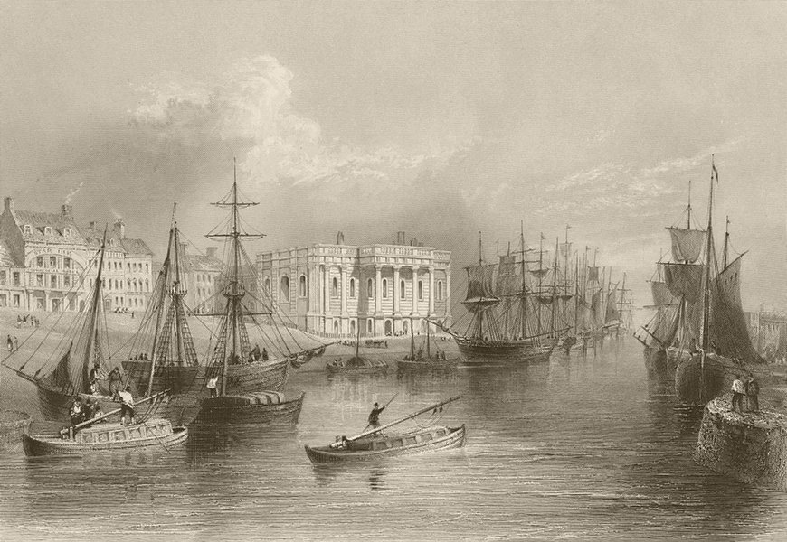 Associate Product The Quay, Great Yarmouth. Norfolk. BARTLETT 1842 old antique print picture