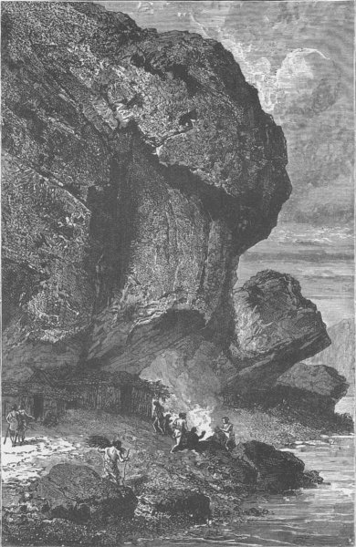 Associate Product FRANCE. Rock-Shelter at Bruniquel, an Abode of man during the Reindeer Age 1890
