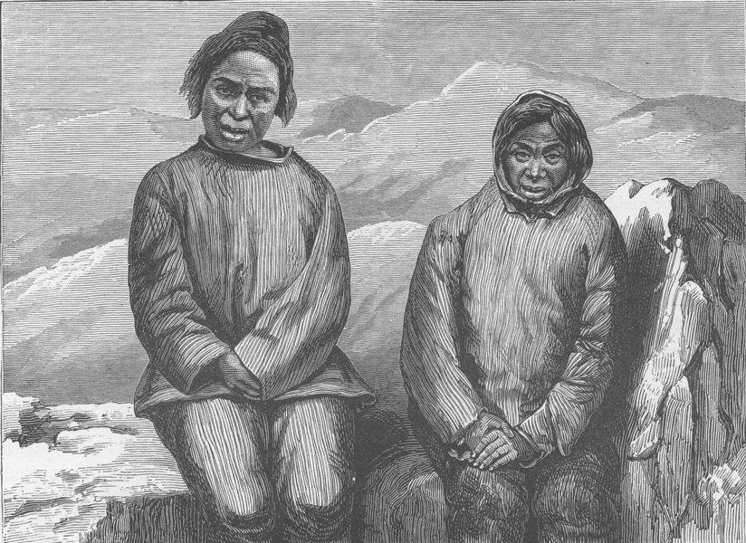 Associate Product GREENLAND. Greenland Eskimo Men 1890 old antique vintage print picture