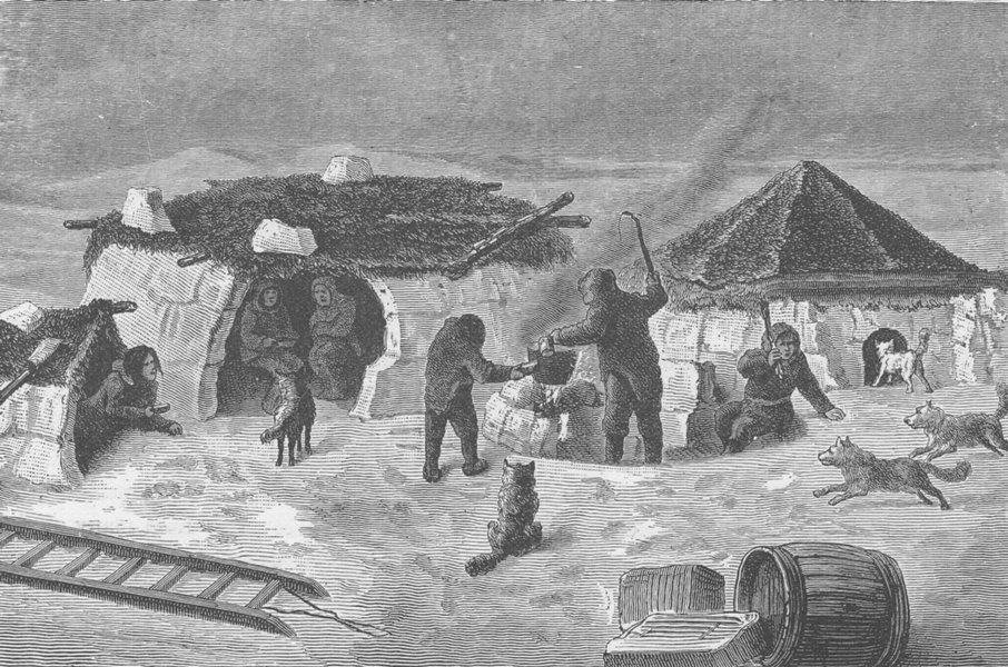 Associate Product CANADA. Eskimo snow huts, near Cape Herschel, King William Island 1890 print