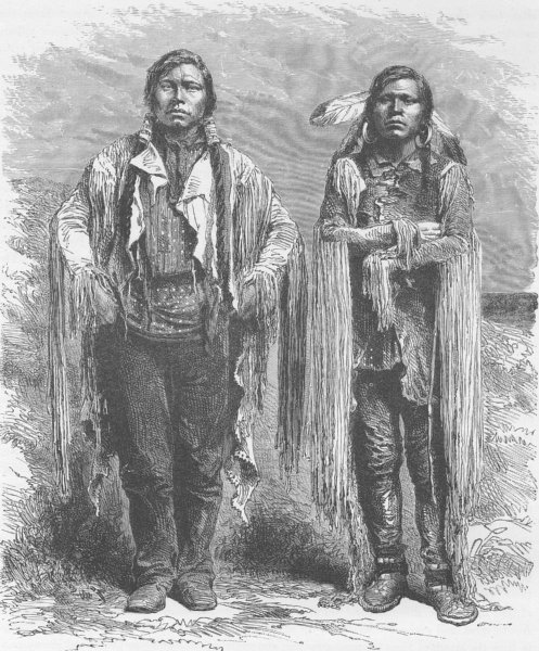 Associate Product COLORADO. Ute Indians of Western Colorado 1890 old antique print picture