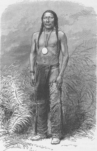 Associate Product UTAH. Shawanoh, the Ute Chief who went to Washington in 1863 1890 old print