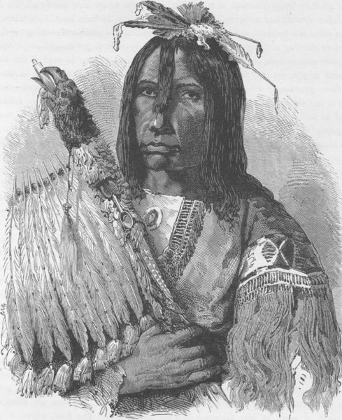 Associate Product USA. Blackfoot Indian Chief 1890 old antique vintage print picture