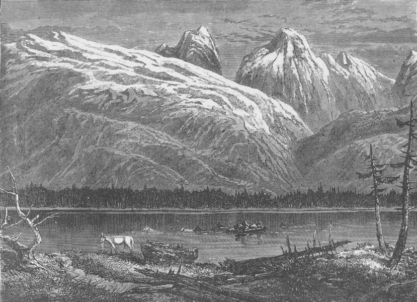 Associate Product CANADA. Entering British Columbia (after Milton and Cheadle)  1890 old print
