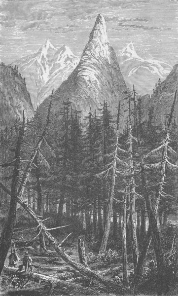 Associate Product CANADA. A view on the North Thompson (after Milton and Cheadle)  1890 print