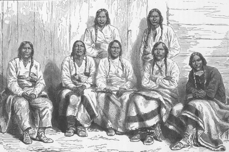 Associate Product USA. Cheyennes and Arapaho 1890 old antique vintage print picture