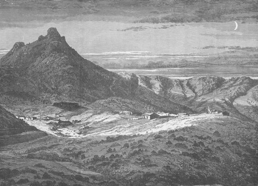 Associate Product ARIZONA. Fort Bowie, Arizona, in the Country of the Apaches 1890 old print