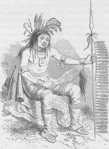 Associate Product CANADA. On-Daig (the crow) a Chippewa Indian (after Catlin)  1890 old print