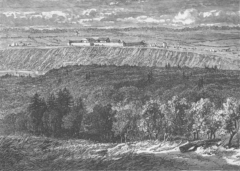 Associate Product CANADA. Old Fort Garry, in the Red River Country (Mani-toba)  1890 print