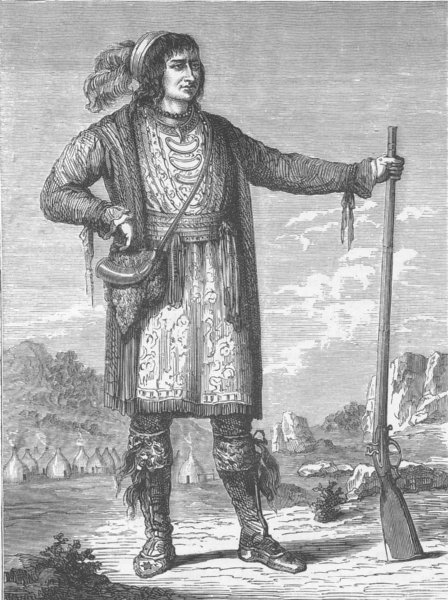 Associate Product USA. Osceola, Seminole leader during their war against the US 1890 old print