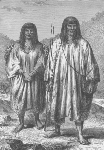 Associate Product BOLIVIA. Antis Indians of Eastern Bolivia 1890 old antique print picture