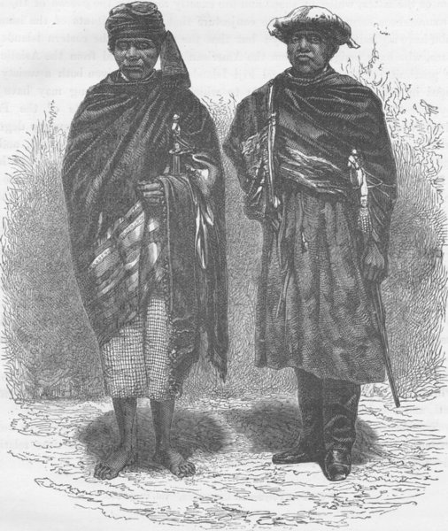 MADAGASCAR. Hova spies of the Queen of Madagascar (Malagasy)  1890 old print