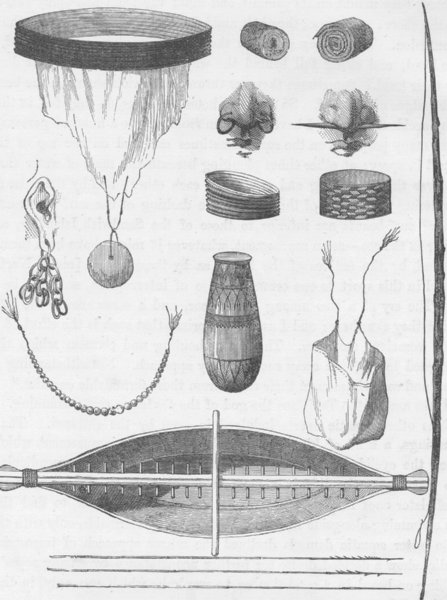 POLYNESIA. Tools & ornaments of the Aborigines of the Marquesas Islands 1890