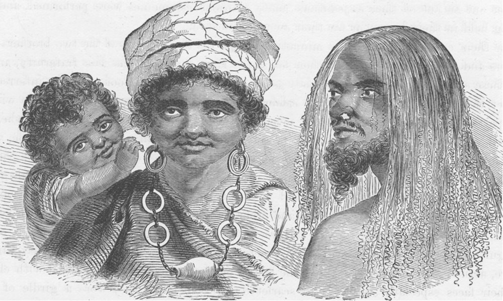 Associate Product POLYNESIA.Male & female of the Island of Tanna,New Hebrides(after cook) 1890