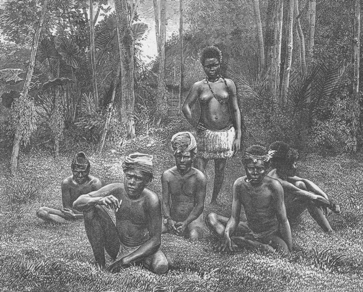 Associate Product PACIFIC ISLANDS. Young New Caledonians 1890 old antique vintage print picture
