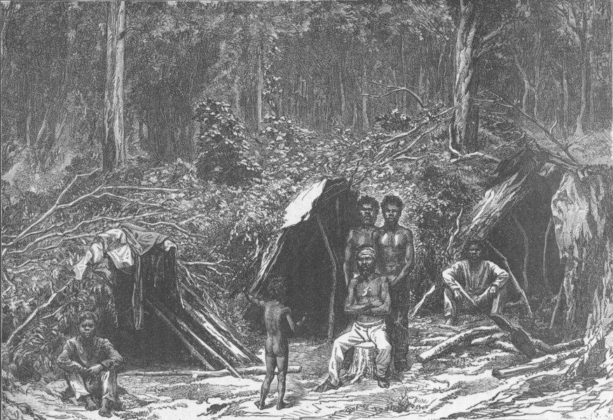 Associate Product AUSTRALIA. Encampment of Australians 1890 old antique vintage print picture
