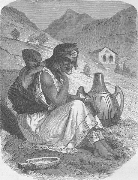 Associate Product ALGERIA. Kabyle woman 1890 old antique vintage print picture