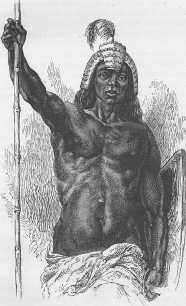Associate Product EGYPT. The chief of the Lira tribe (after baker)  1890 old antique print