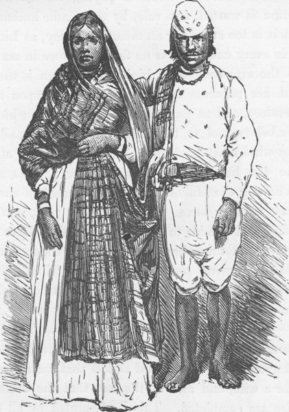 Associate Product SOUTH AFRICA. Kaffir servants in European dress 1890 old antique print picture