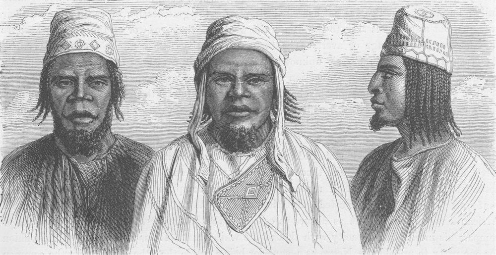 Associate Product GAMBIA. Futa-Jallon (Foulah) headwaters of the Senegal & Gambia Rivers 1890