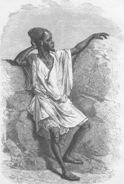 Associate Product SENEGAL. Griot, or Holy Man of Senegambia 1890 old antique print picture
