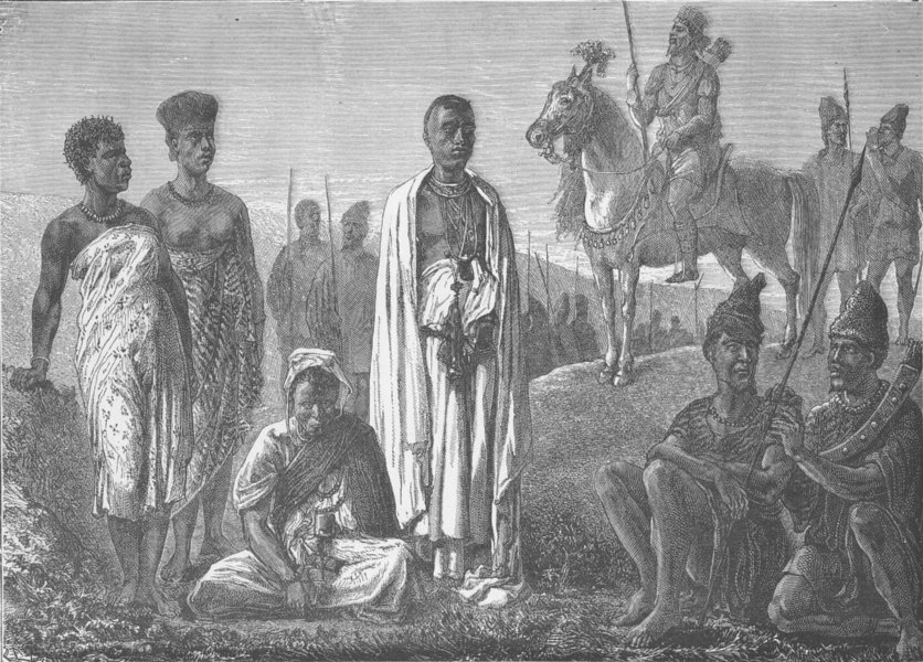 Associate Product LIBERIA. Typical tribes of the North-West Coast of Africa 1890 old print