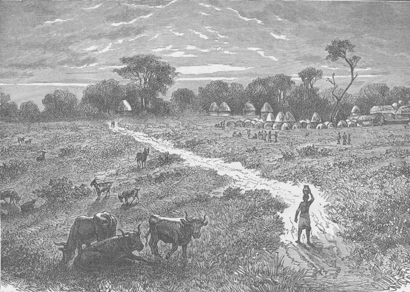 Associate Product TANZANIA. Kagehyi, an Uchambi Village, from Speke Gulf, Victoria Nyanza 1891