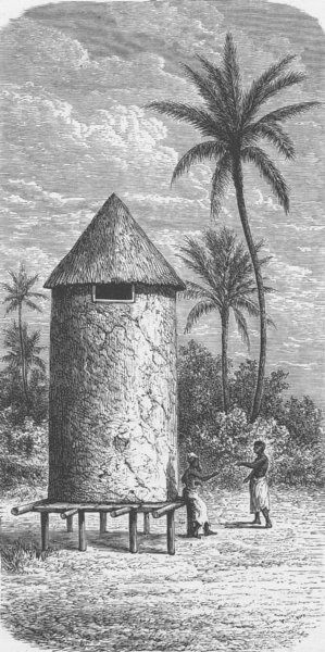 Associate Product CENTRAL AFRICA. Granary of Miro, Chief of Akalunga, Lake Tanganyika 1891 print