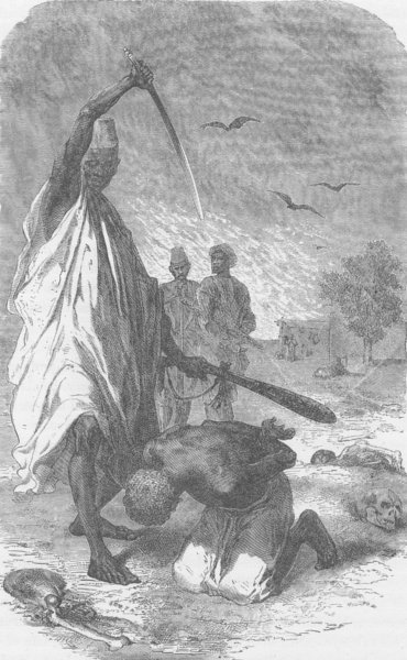 Associate Product MALI. Execution at Sego, the Capital of Bambara, on the Upper Niger 1891 print