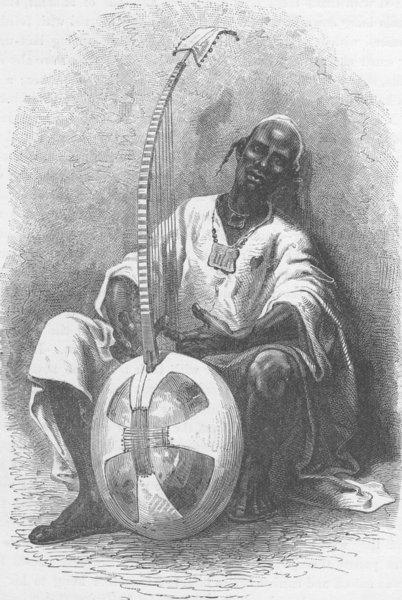 Associate Product MALI. Griot (Improvisatore) of Niantanso (Type of Malinka)  1891 old print
