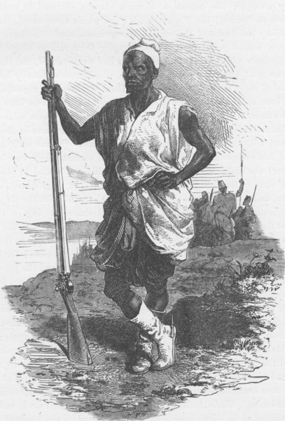 Associate Product GHANA. Leader of the troops of Pilgrims at Koundian 1891 old antique print