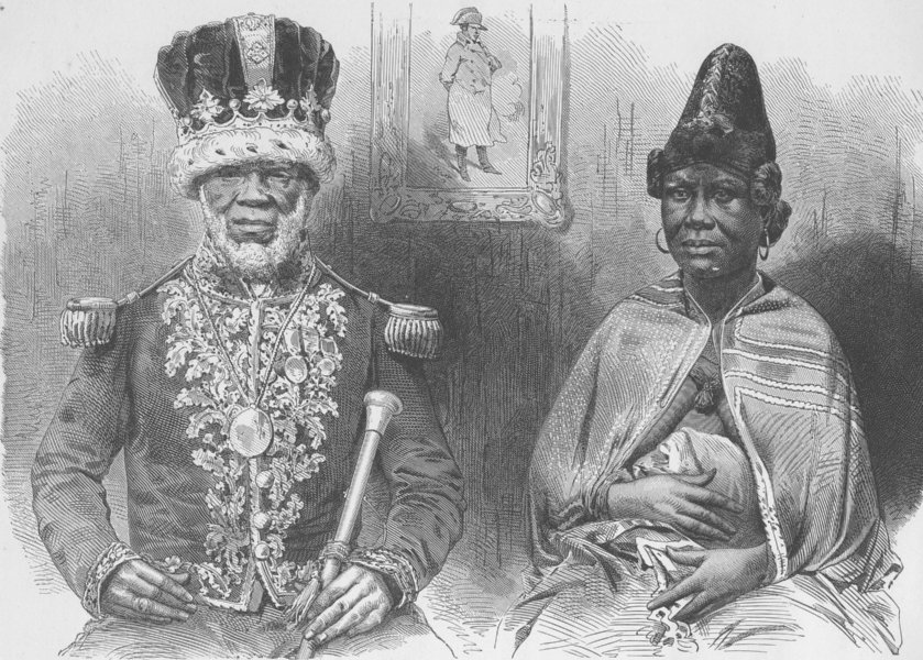 Associate Product GABON. King William, or Roi Denis of the Gabon, and his Principal wife 1891