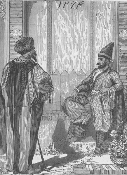 Associate Product IRAN. Persian Nobles 1891 old antique vintage print picture