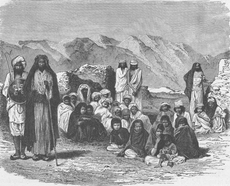 AFGHANISTAN. Group of Afghans 1891 old antique vintage print picture